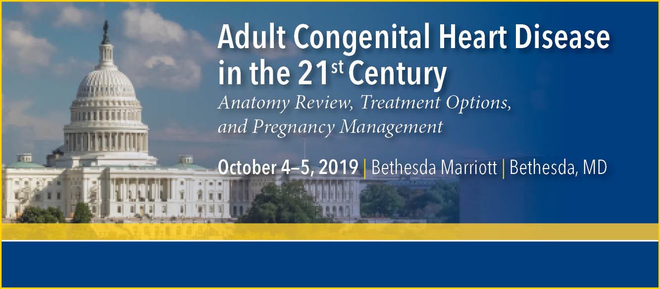 Adult Congenital Heart Disease 2019 (ACHD) Banner
