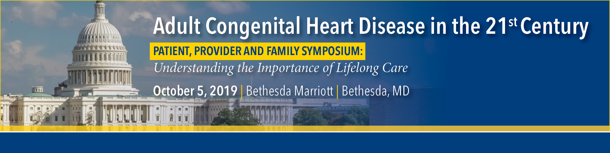 Adult Congenital Heart Disease (ACHD) Patient and Family Session 2019 Banner