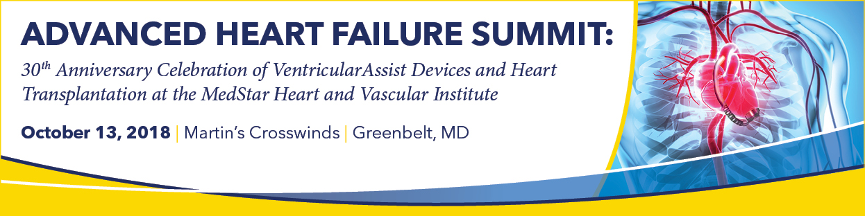 Advanced Heart Failure Summit: 30th Anniversary Celebration of Ventricular Assist Devices and Heart Transplantation at MHVI (AHF) Banner