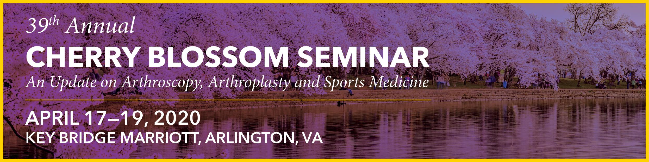 39th Annual Cherry Blossom Seminar Banner