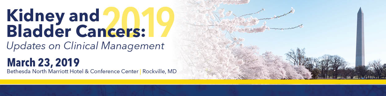 Kidney and Bladder Cancers: Updates on Clinical Management 2019 Banner