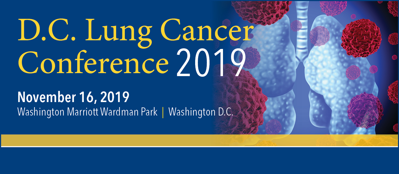 DC Lung Cancer Conference 2019 Banner