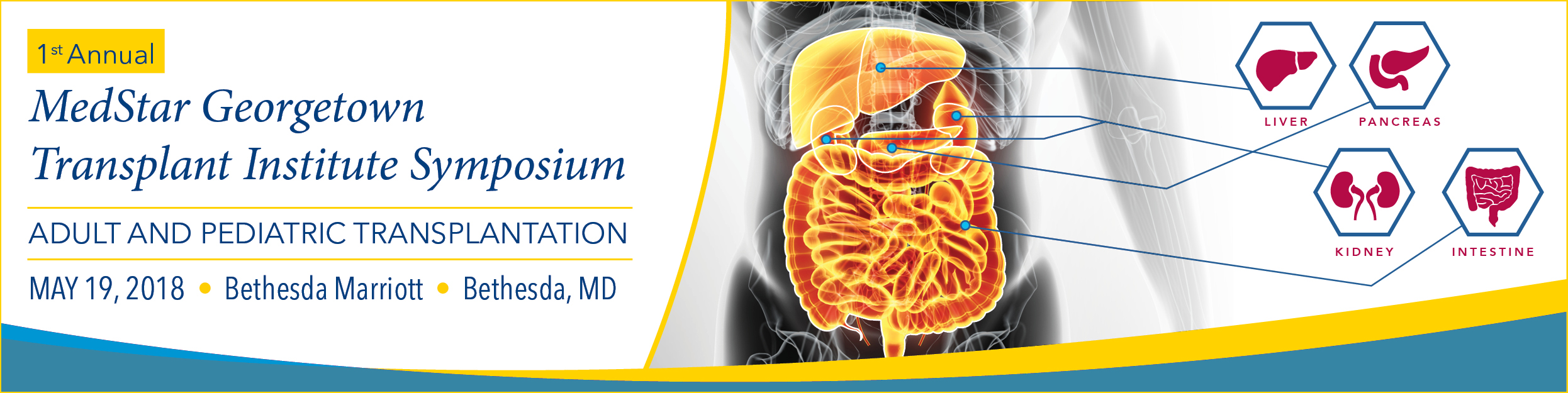 1st Annual MedStar Georgetown Transplant Institute Symposium 2018 Banner
