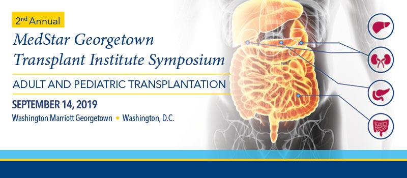 2nd Annual MedStar Georgetown Transplant Symposium 2019 Banner