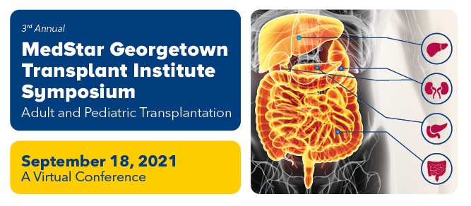 3rd Annual MedStar Georgetown Transplant Institute Symposium Banner