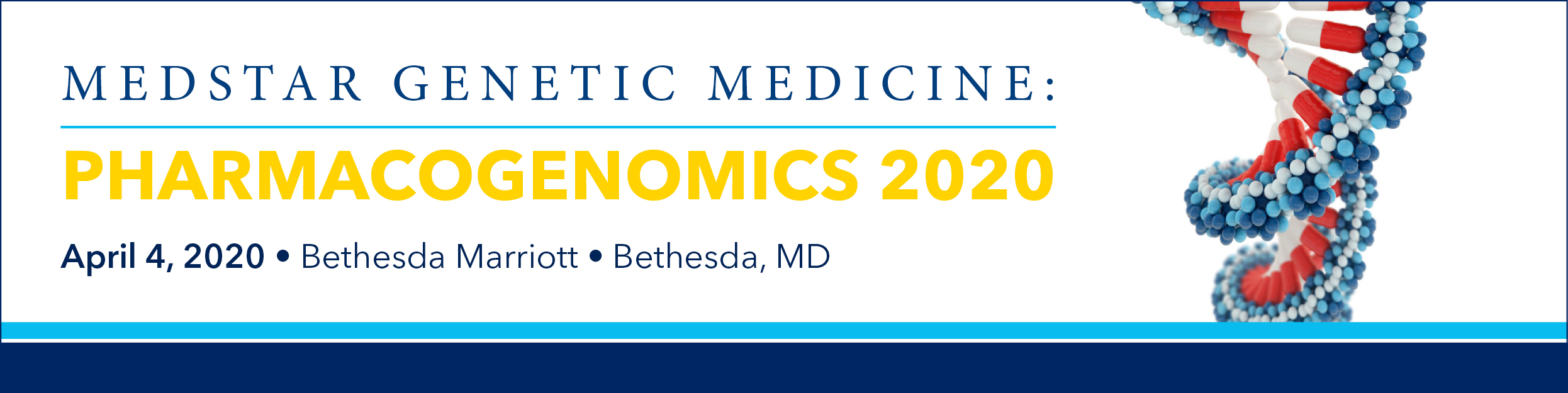 2020 MedStar Genetic Medicine: Pharmacogenomics Banner