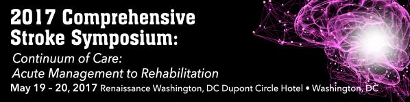 2017 Comprehensive Stroke Symposium Continuum of Care: Acute Management to Rehabilitation Banner