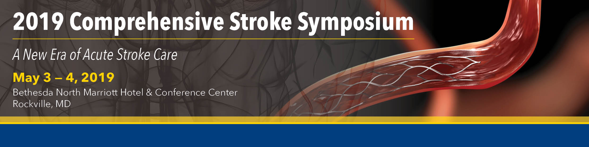 2019 Comprehensive Stroke Symposium: A New Era of Acute Stroke Care Banner